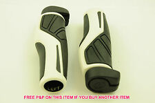 PAIR HERRMANS ADRENALIN LOCK ON BIKE HANDLEBAR GRIPS BLACK & WHITE SALE 70% OFF