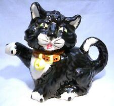 PRICE KESSINGTON  BLACK& WHITE  CAT TEAPOT