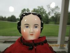 ANTIQUE REPRO CHINA HEAD DOLL BEAUTIFUL FACE, CIVIL WAR, MODIFIED FLAT TOP