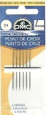 Size 24 DMC Cross Stitch Needles Pack of 6 With UK Postage and Packing