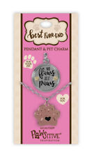 NO FLAWS JUST PAWS Best Furr-end Pewter Pendant Neckless & Dog Pet Friend Charm