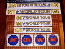 1985 GT BMX Pro World Tour, restoration decals on clear, Zeronine, Oakley