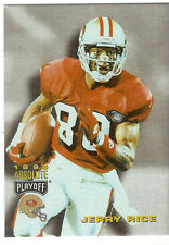 JERRY RICE HOF WR SAN FRANCISCO 49ERS 1995 PLAYOFF ABSOLUTE  #100