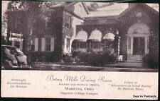 MARIETTA OH Betsey Mills Club Dining Room Vtg Postcard