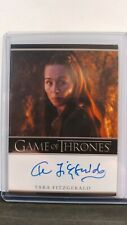 Game of Thrones Inflexions Tara Fitzgerald (Selyse Baratheon) Bordered Auto Card
