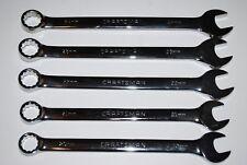 Craftsman 5-PC 12-pt Metric Large Full Polish Combination Wrench Set