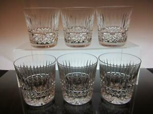 Set of Six (6) WATERFORD Crystal TRAMORE 9oz Old Fashioned Whisky Glasses