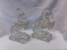 ELEGANT GLASS HORSE UNIQUE PAIR HORSE BOOKENDS