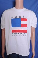 VTG 1990s Model American Computers white advertising Made in USA t shirt L