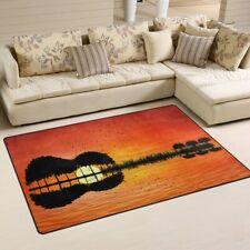 Guitar Rug - Sunset - non-slip floor mat - 60 x 39 inches - new