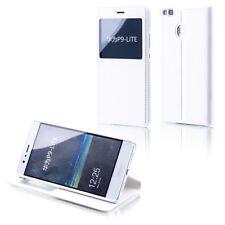 Funda Libro Tapa con Ventana Blanco para Huawei P10 Lite