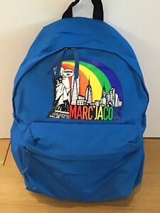 Marc Jacobs Double Zip Backpack Cobalt Blue Statue of Liberty Rainbow  -NWT