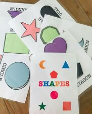 Toddler Kids Preschool Kindergarten Shapes Activity Busy Book Learning Tool