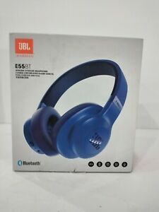 JBL E55BT Over-ear Wireless Headphones - Blue