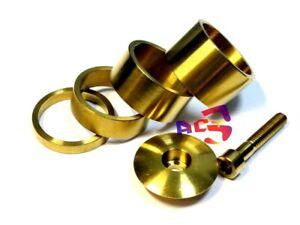"""4 - Titanium / Ti Spacer 1-1/8"""" (5-10-15-20mm) & Top Cap & M6 x 35mm Bolt - Gold"""