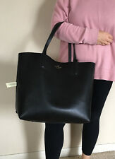 NWT Kate Spade Mya Black / Leopard Leather TOTE ONLY + 25% off your next order*