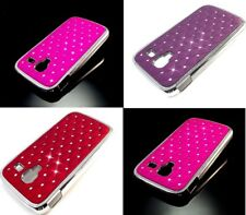Luxury Diamond Gem Chrome Edge Bling Hard Back Case Cover for Apple Samsung Sony
