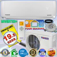 PIONEER 12000 BTU 19 SEER DC Inverter+ Mini Split Heat Pump Set 120V +16' Kit
