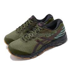 Asics Gel-Cumulus 21 Winterized Olive Canvas Black Men Running Shoe 1011A635-300