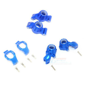 GPM ALUMINUM FRONT C-HUBS, FRONT+REAR KNUCKLE ARMS FOR TRAXXAS 1/10 MAXX