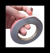 Steel Tape Adhesive Backed for Attaching Magnets 2mt Length  12.7mm wide x 0.8mm