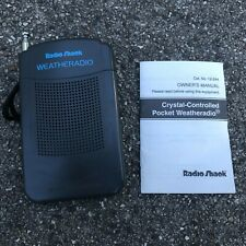 Radio Shack Pocket Weather Radio - Model #12-244 Euc w Manual