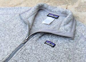 PATAGONIA Better Sweater zip up fleece Jacket women's Sz S Gray