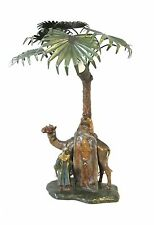 Lamp Antique Vienna Bronze cold painted - rug merchant on a camel - lamp (#958)