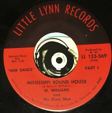 W Williams and His Blues Men 45 Mississippi Round House Don't Lie To Me Lover M-