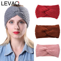 Ladies Knit Crochet Turban Headband Hairband Wide Head Wrap Bandanas Cover Scarf