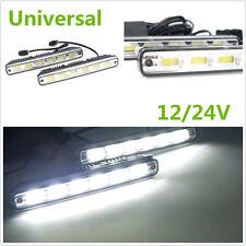 2x Super Bright COB LED Car Fog Lamp DRL & Installation Bracket With Controller
