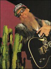 Zz Top Billy Gibbons Custom Fender Snake Telecaster guitar 1994 pin-up photo