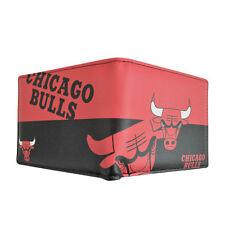 Chicago Bulls NBA Men's Printed Logo Leather Bi-Fold Wallet