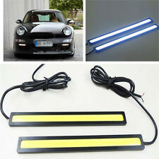 2x Ultra bright COB Car LED Lights 12V For DRL Fog Driving Lamp Waterproof 17cm