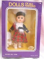 "Scotland Doll 8"" Jointed ,Closing Eyes, NIB Traditional Outfit 1970"
