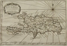 CARTE DE L'ISLE DE SAINT DOMINGUE , CARAIBES ANTILLES , BELLIN, 1759