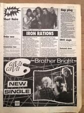 IRON MAIDEN 'tour news' 1983 ARTICLE / clipping