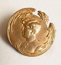 L'Aiglon fils de l'empereur Napoléon 1er Broche en métal doré bijou ancien