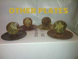"""Soap Stone Plate Incense Burners W / ASSORTED TOPS 6 sticks 2.6""""x2.6"""