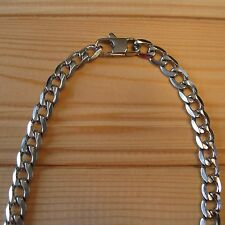 Man Stainless Steel Chain Curb 8mm or 12mm (choice designs & sizes)