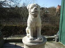 LARGE SITTING ROTTWEILER  DOGS DOG  STONE GARDEN   SCULPTURE STATUE