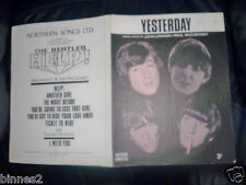 THE BEATLES OFFICIAL ORIGINAL SHEET MUSIC 1965 YESTERDAY Northern Songs AWESOME