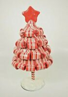 """Hobby Lobby: Candyland Red & White Stripes Christmas Tree TablePiece (8.25"""") New"""