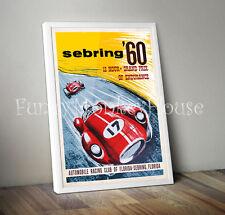 Vintage car poster racing motorsport - Sebring Grand Prix 1960 A2