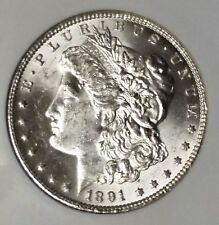 $1 1891-CC CHOICE BU Morgan SIilver Dollar, Rare Date, Bright-n-Lustrous