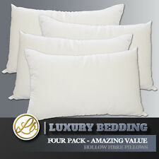 4 Four Pack Pillows Bedding Set 2 Two x Pairs Non Allergenic - Best Value Sale