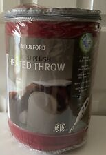 NEW Biddeford Micro Plush Red Electric Heated Throw Blanket
