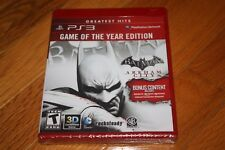 Brand New Sealed PS3 Batman Arkham City Game Of The Year Edition Greatest Hits