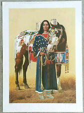"David Wright ""The Princess"" Lithograph Hand Signed Limited Edition Print /1200"