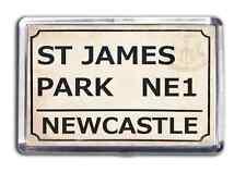 Newcastle United Football Fridge Magnet Print Stadium Street Sign St James Park
